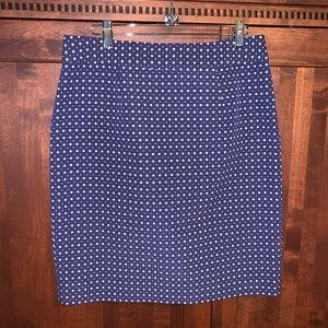 Banana Republic Blue straight skirt EUC!
